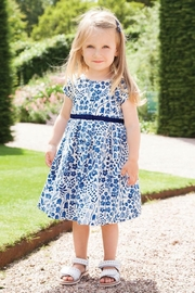 JoJo Maman Bebe Floral Party Dress - Front full body