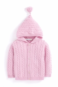 Shoptiques Product: Hooded Pink Cardigan