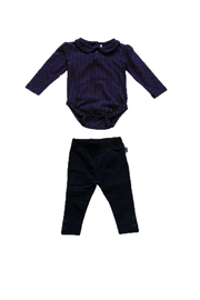 JoJo Maman Bebe Peter Pan Top Set - Front cropped