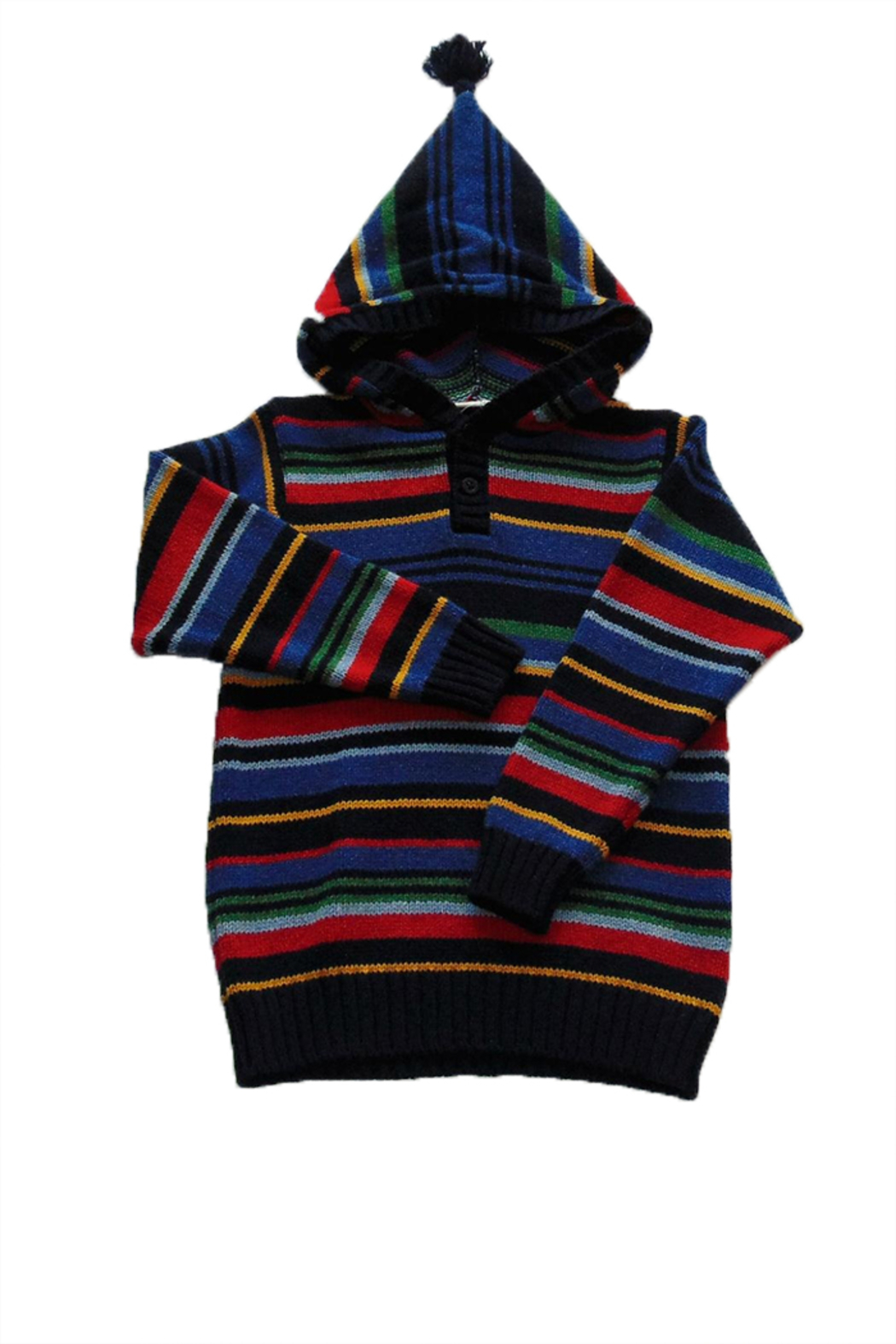 JoJo Maman Bebe Striped Hooded Jumper - Main Image