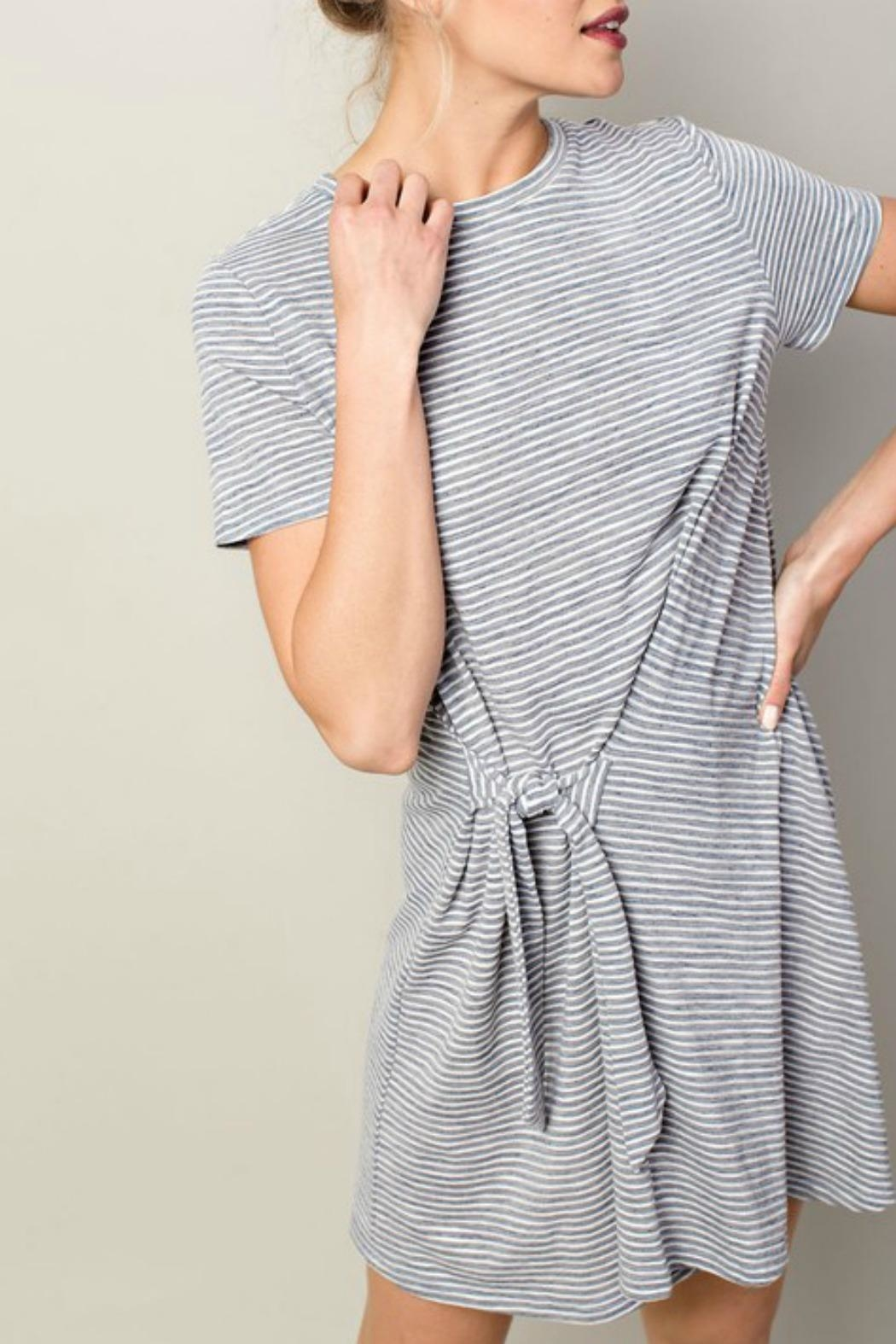 LLove USA Joleen Striped Dress - Side Cropped Image