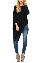 Jolie Asymmetrical Black Sweater - Front cropped