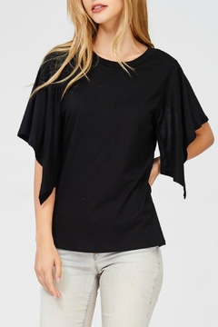 Shoptiques Product: Black Open-Sleeve Top