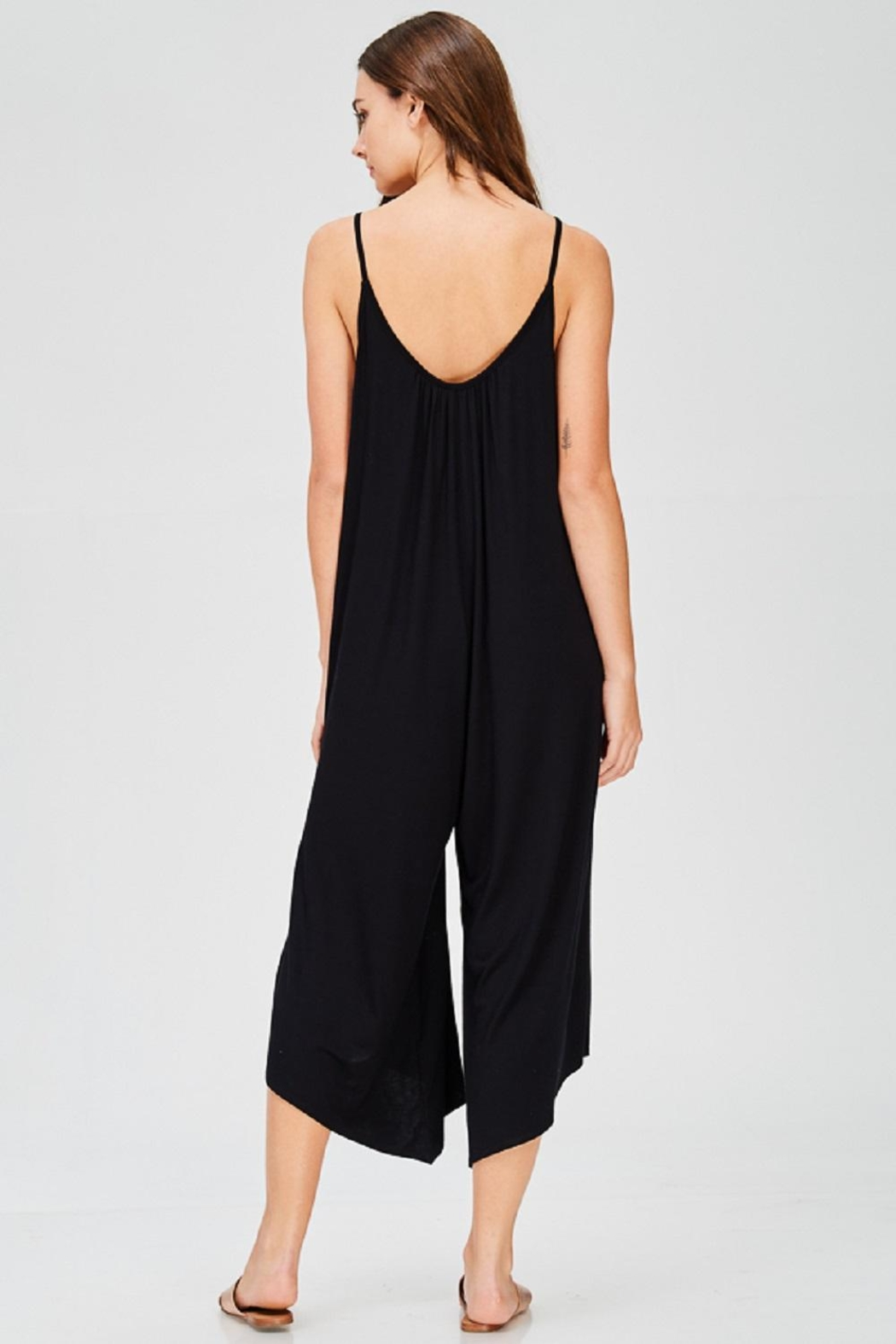 Jolie Black Palazzo Jumpsuit - Side Cropped Image