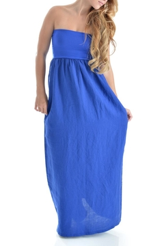 Jolie Blue Linen Dress - Alternate List Image