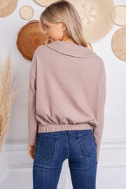 Jolie Brushed Terry Sweater - Side cropped