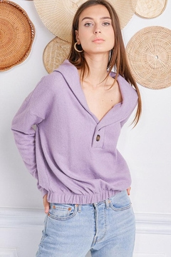 Jolie Brushed Terry Sweater - Product List Image