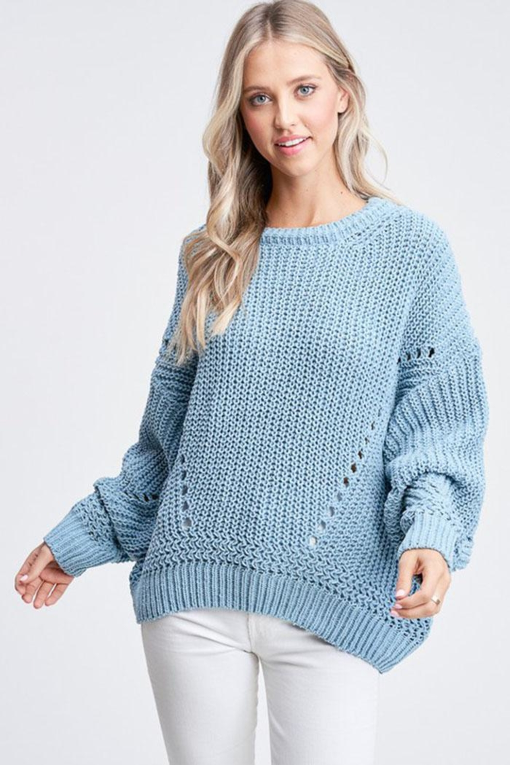 Jolie Bubble Sleeve Sweater - Side Cropped Image