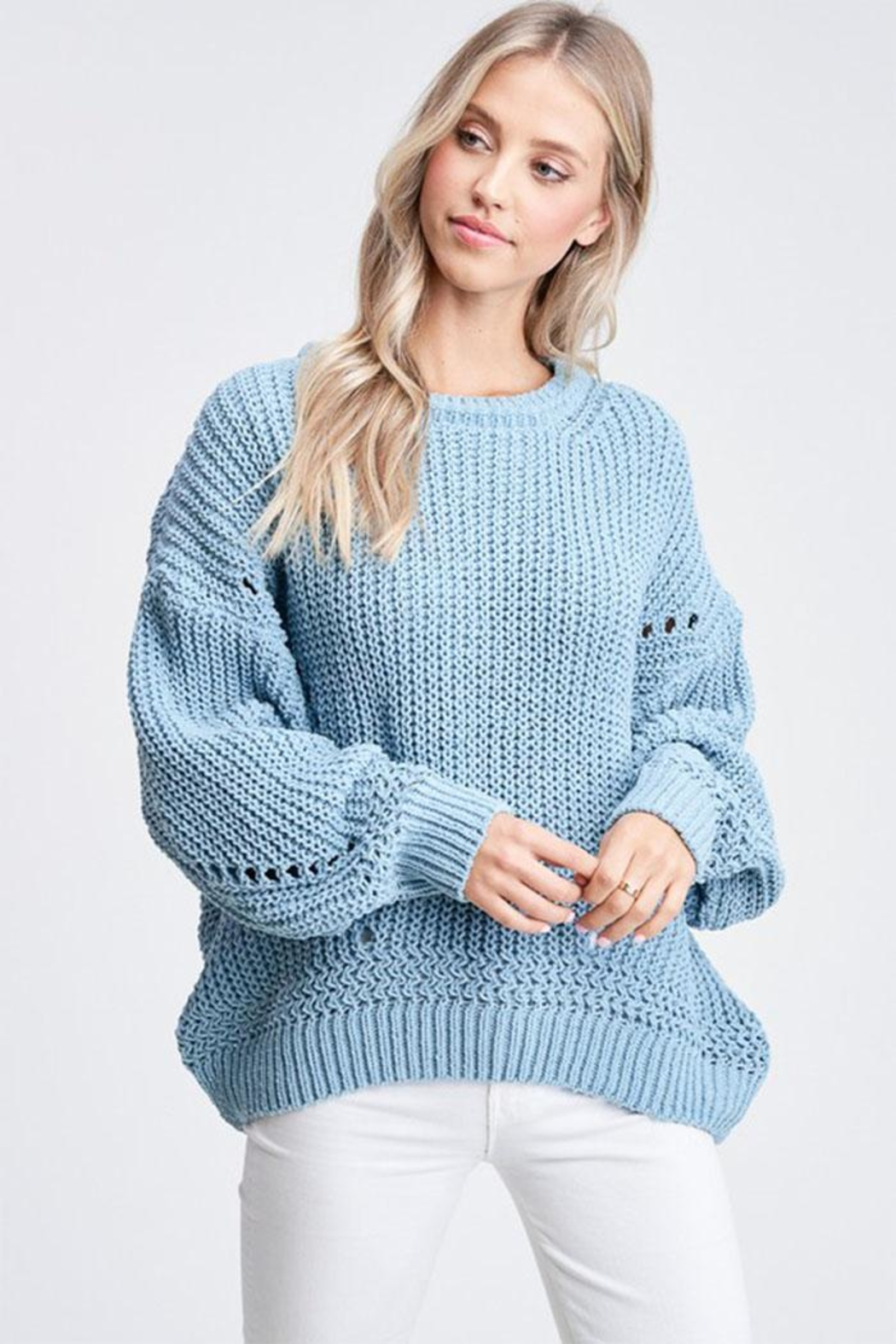 Jolie Bubble Sleeve Sweater - Main Image