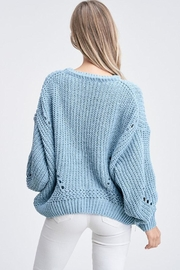 Jolie Bubble Sleeve Sweater - Back cropped