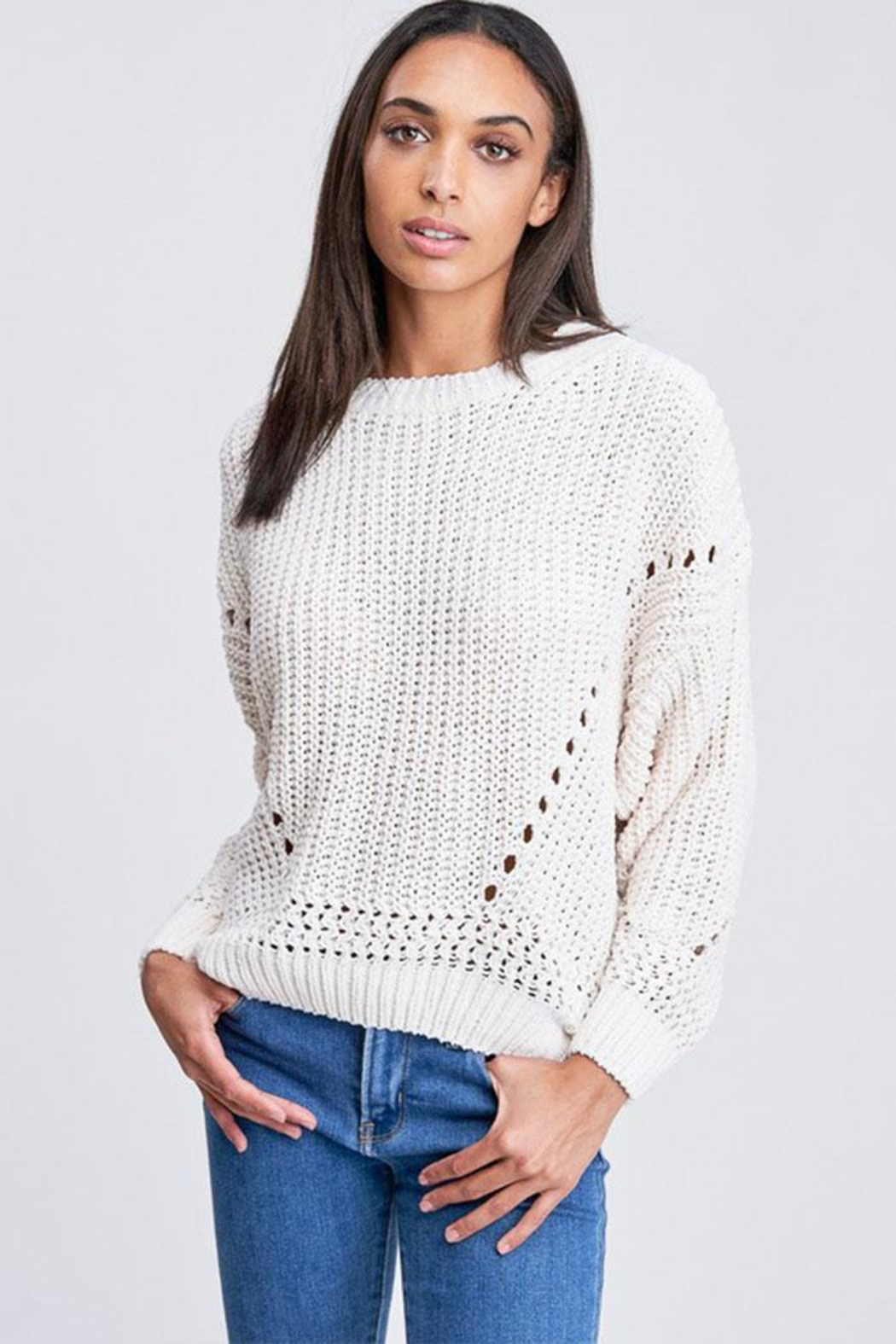 Jolie Bubble Sleeve Sweater - Front Cropped Image