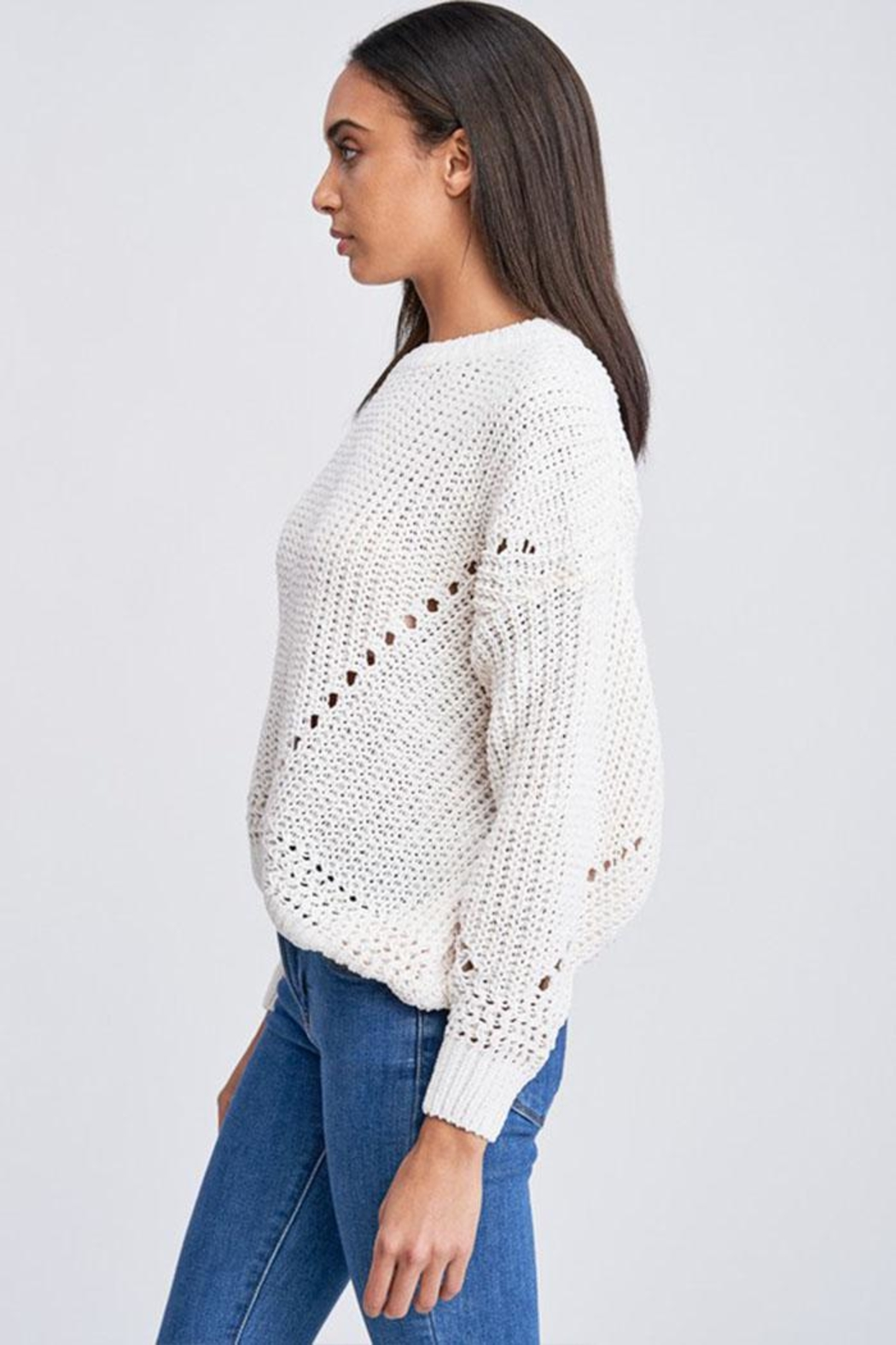 Jolie Bubble Sleeve Sweater - Front Full Image
