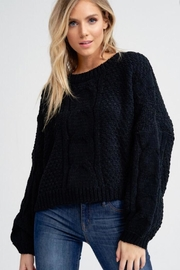 Jolie Cable Chenille Sweater - Product Mini Image