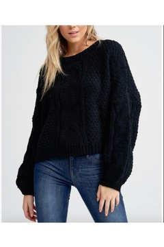 Jolie Chenille Puff Sleeve Sweater - Alternate List Image
