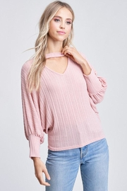 Jolie Chocker Knit Top - Product Mini Image