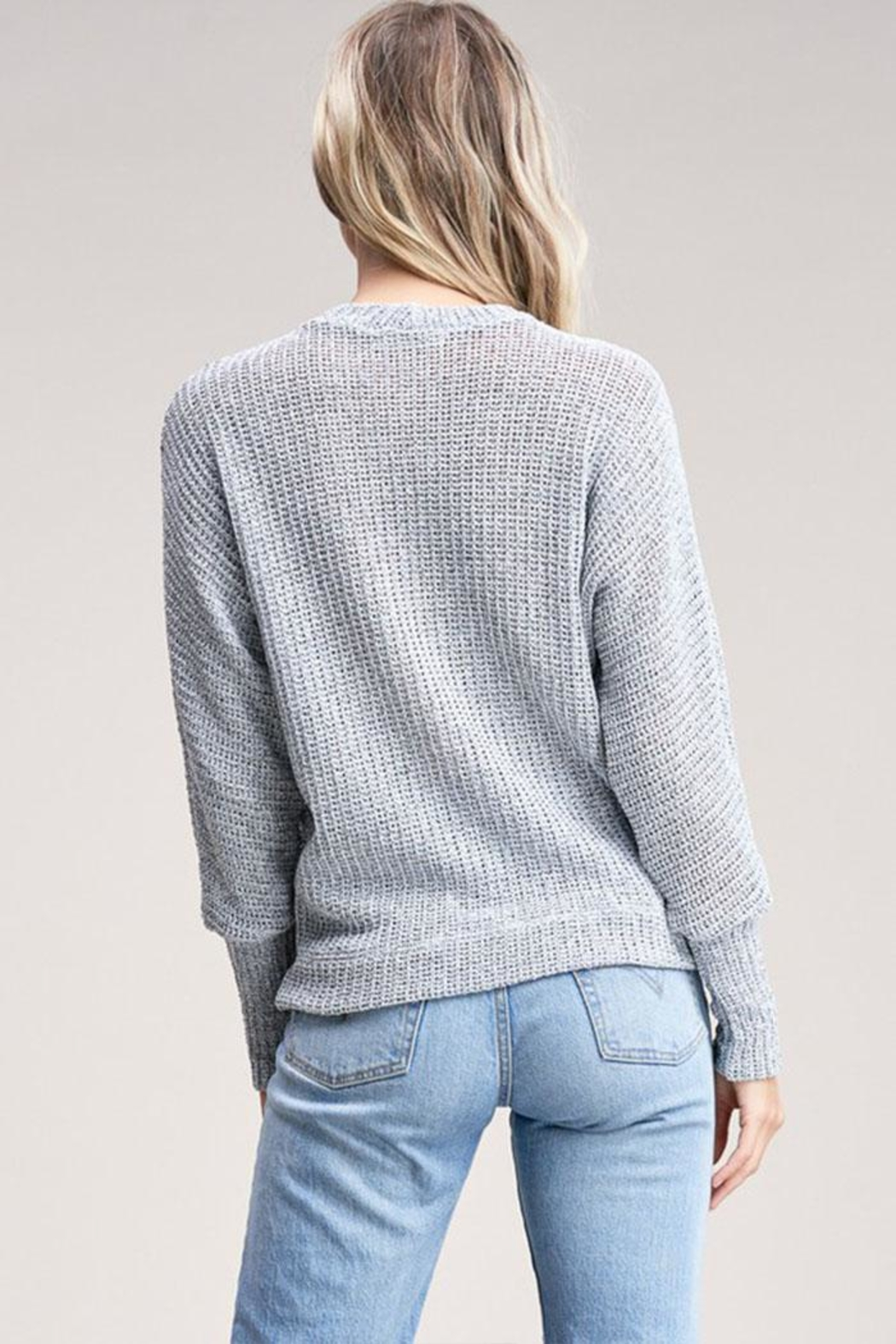 Jolie Choker Front Sweater - Back Cropped Image