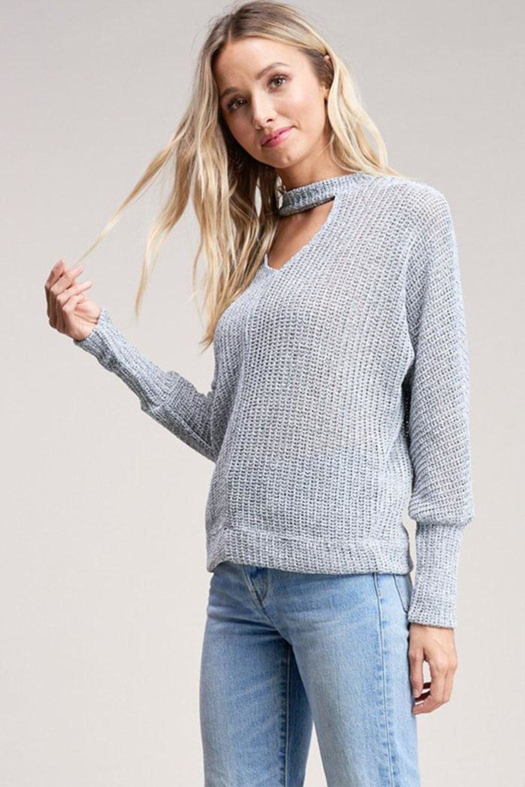 Jolie Choker Front Sweater - Side Cropped Image