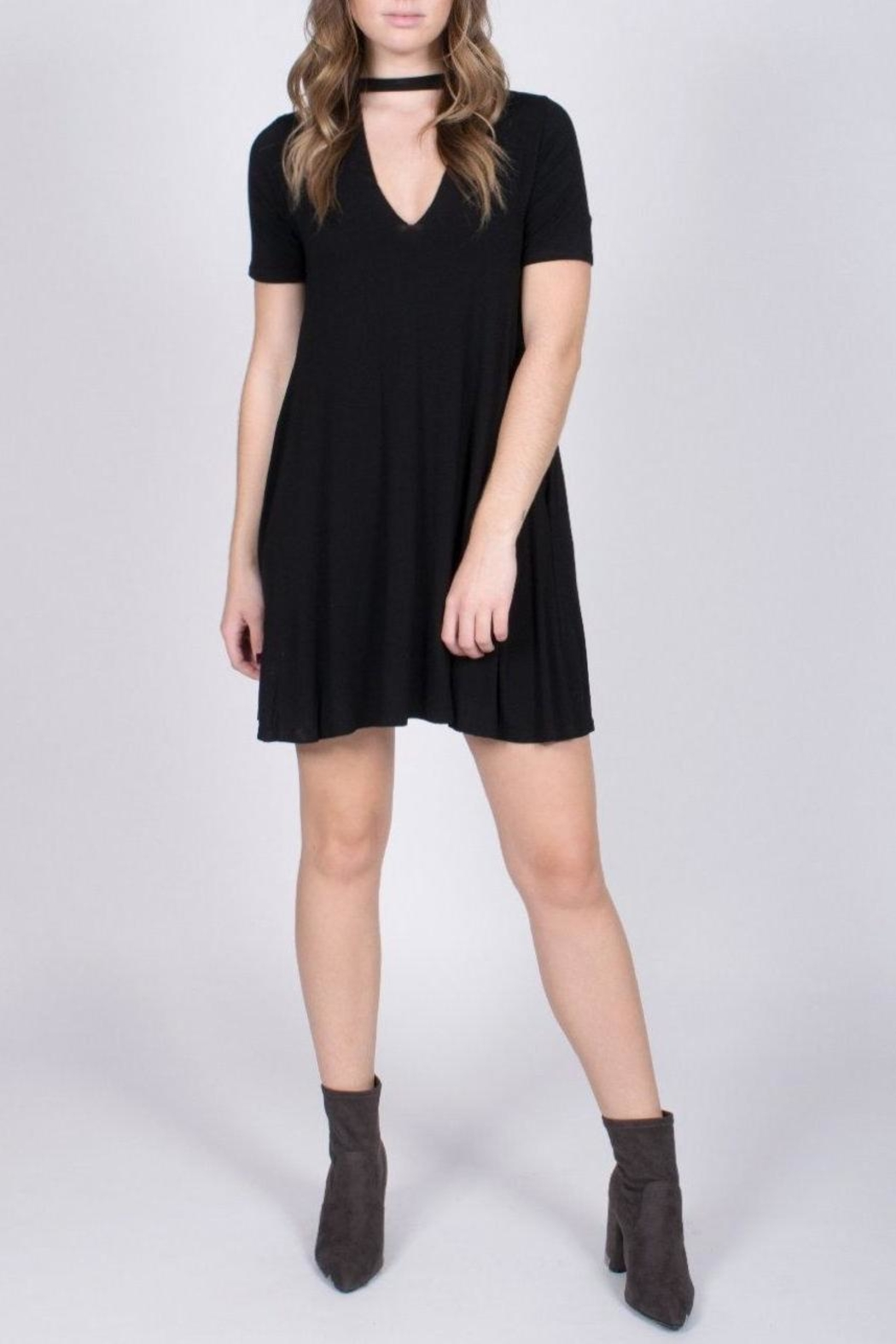 Jolie Choker Swing Dress - Front Full Image