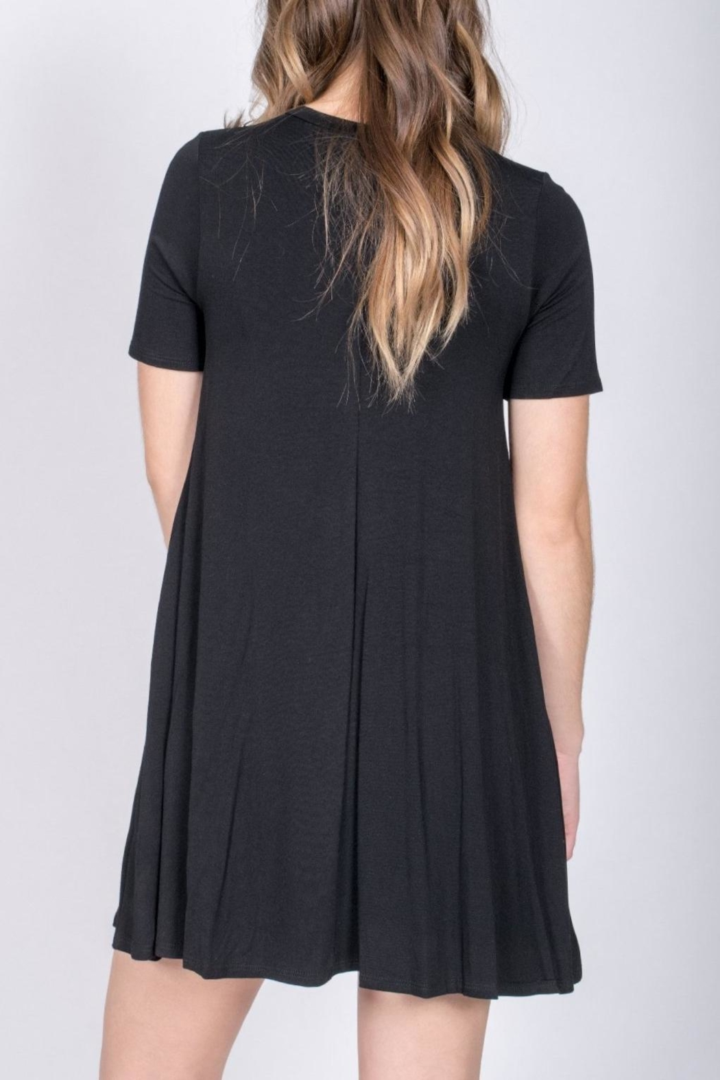 Jolie Choker Swing Dress - Back Cropped Image