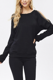 Jolie Cold Shoulder Sweater - Product Mini Image