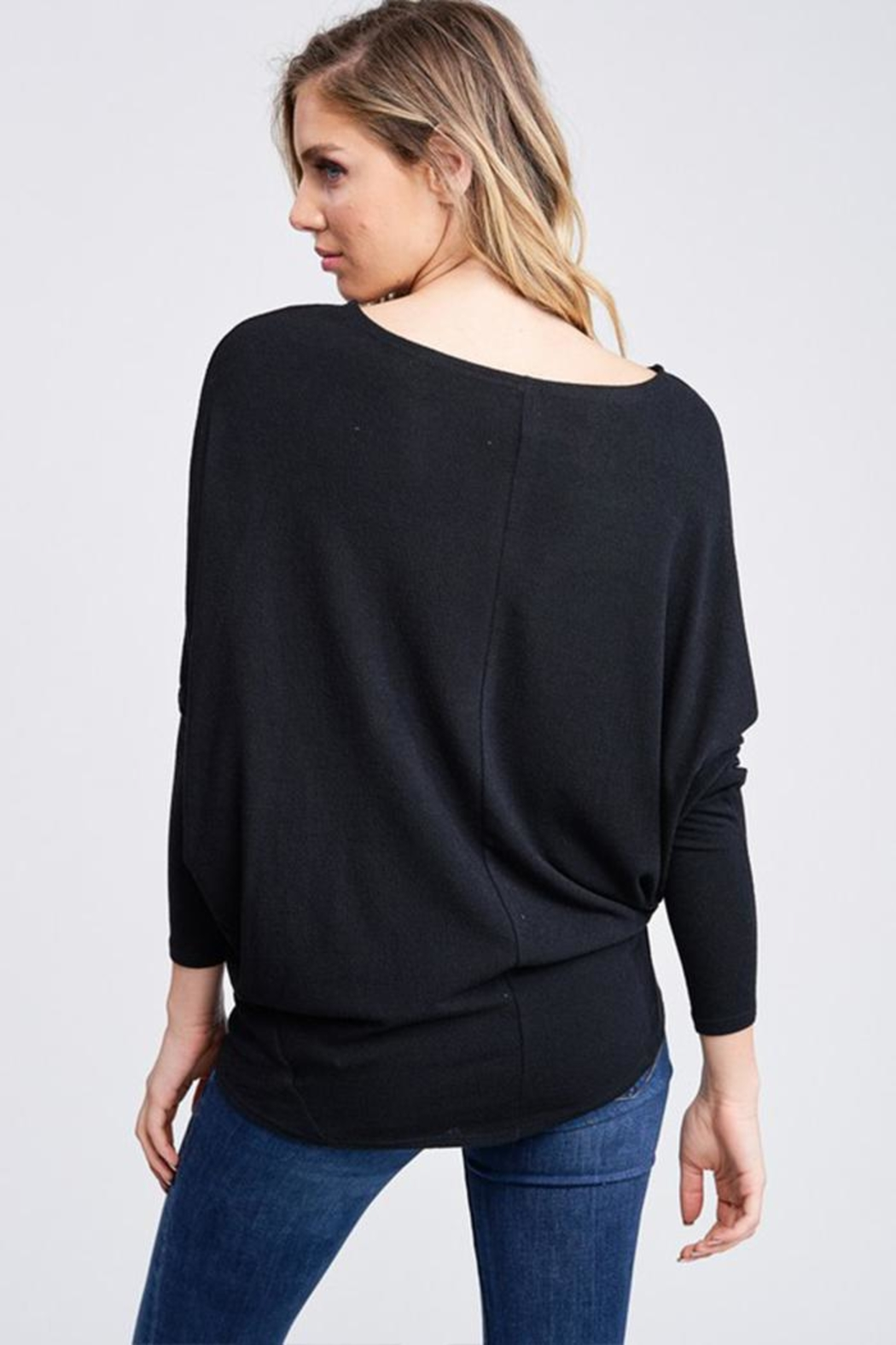 Jolie Comfy Dolman Sweater - Front Full Image