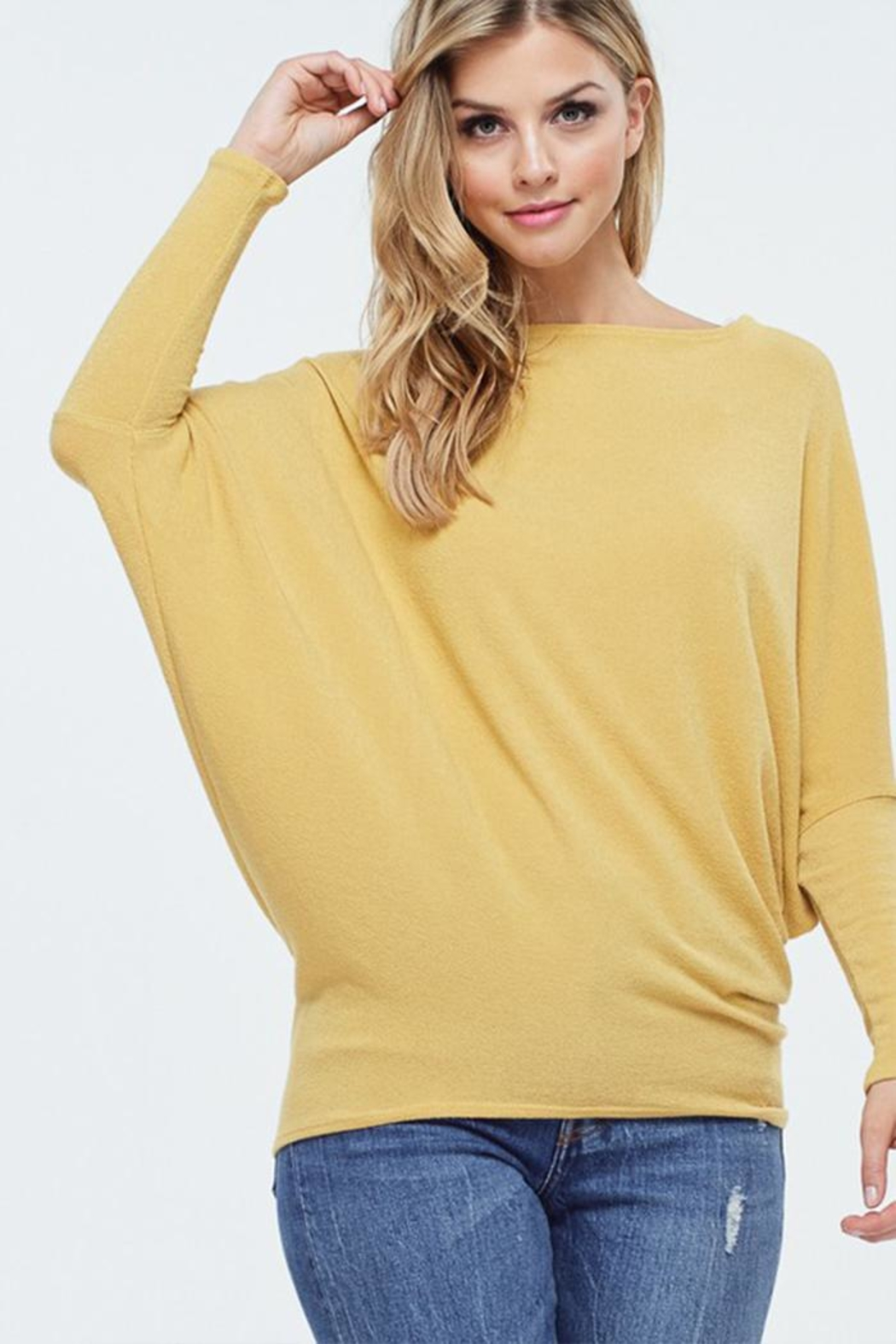 Jolie Comfy Dolman Sweater - Front Cropped Image