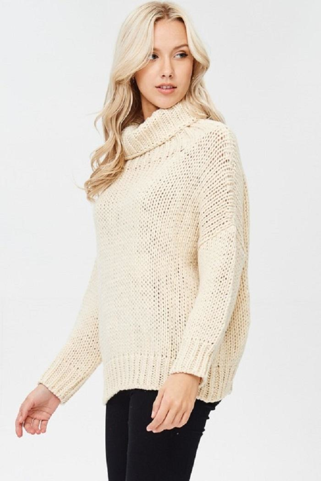 Jolie Cream Chunky Sweater from New York City by Dor L'Dor ...