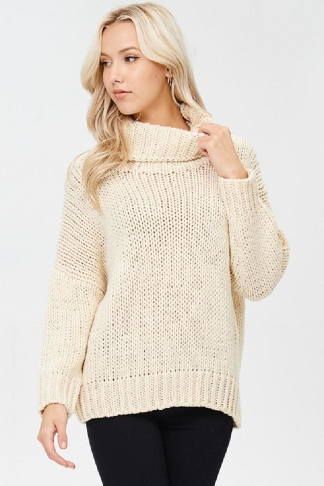 Best Fashion - Cream Chunky Sweater