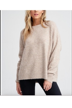 Jolie Crewneck Melange Sweater - Alternate List Image
