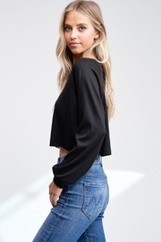 Jolie Cropped Thermal Top - Front full body