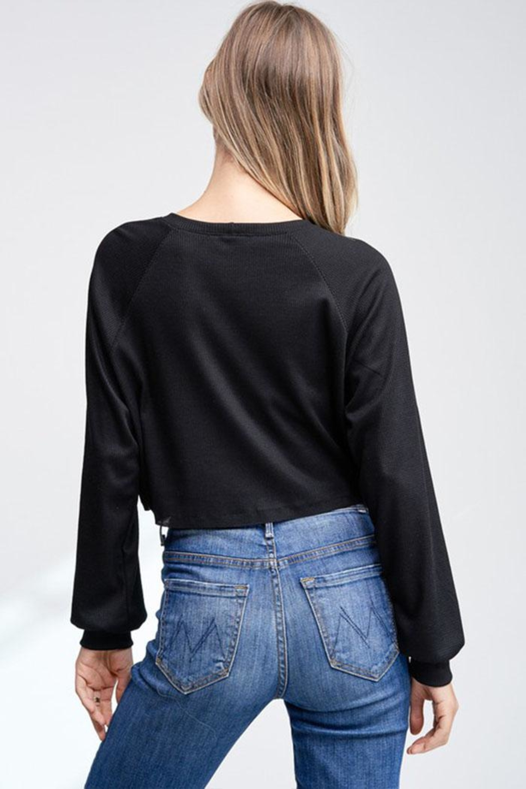 Jolie Cropped Thermal Top - Side Cropped Image