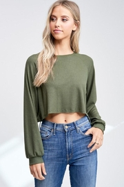Jolie Cropped Thermal Top - Product Mini Image