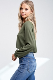 Jolie Cropped Thermal Top - Back cropped