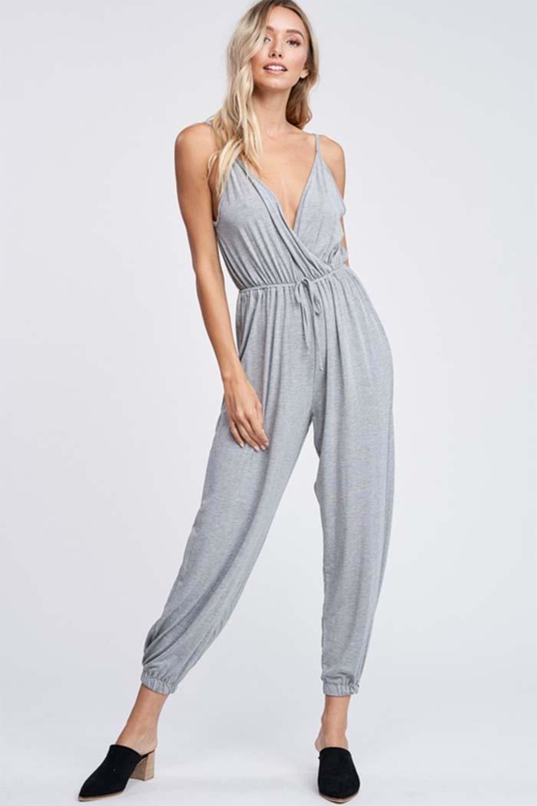 Jolie Crossover Knit Jumpsuit - Main Image