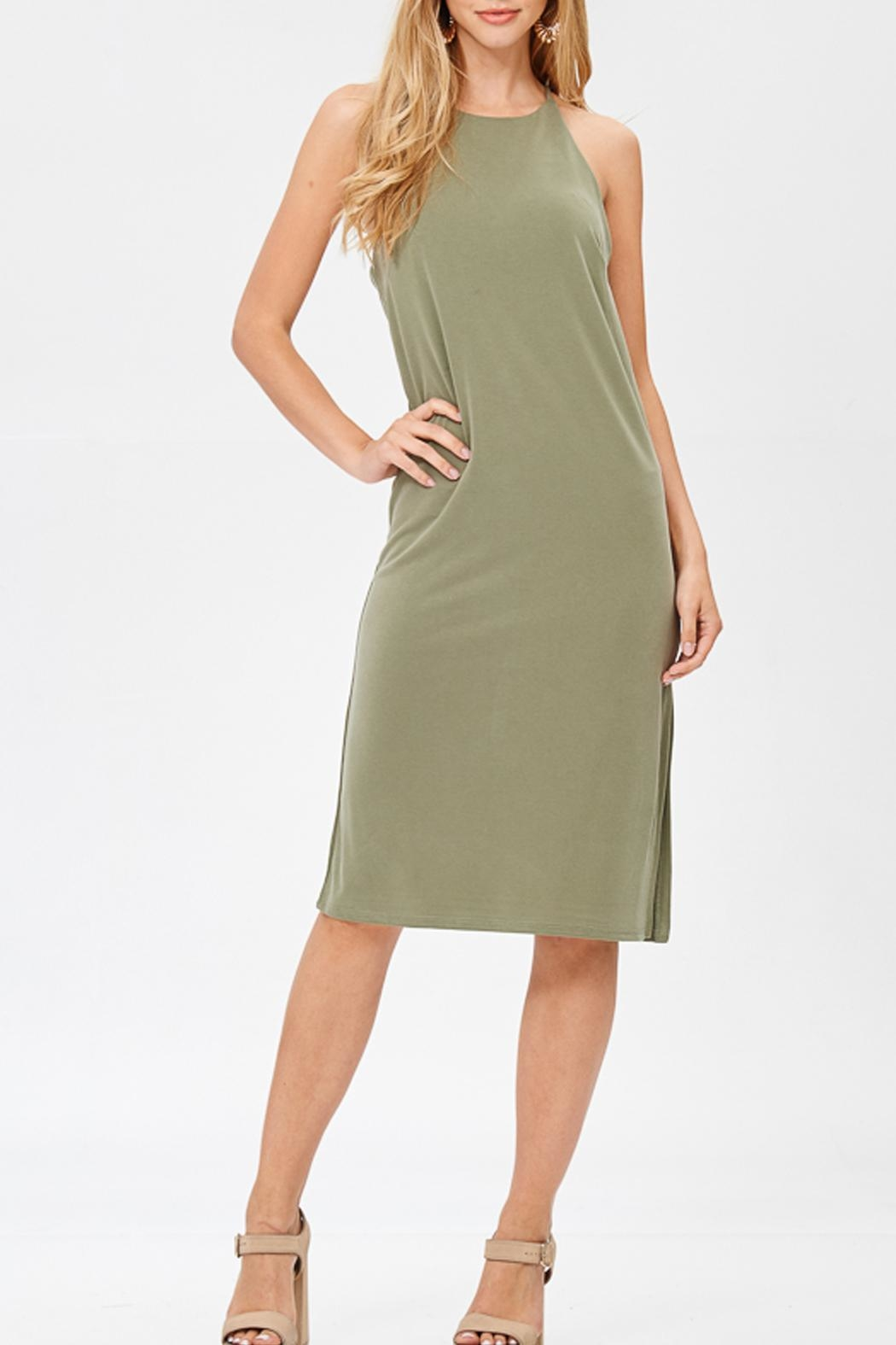 Jolie Cupro Slip Dress - Front Cropped Image