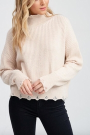 Jolie Distressed Turtleneck Sweater - Product Mini Image