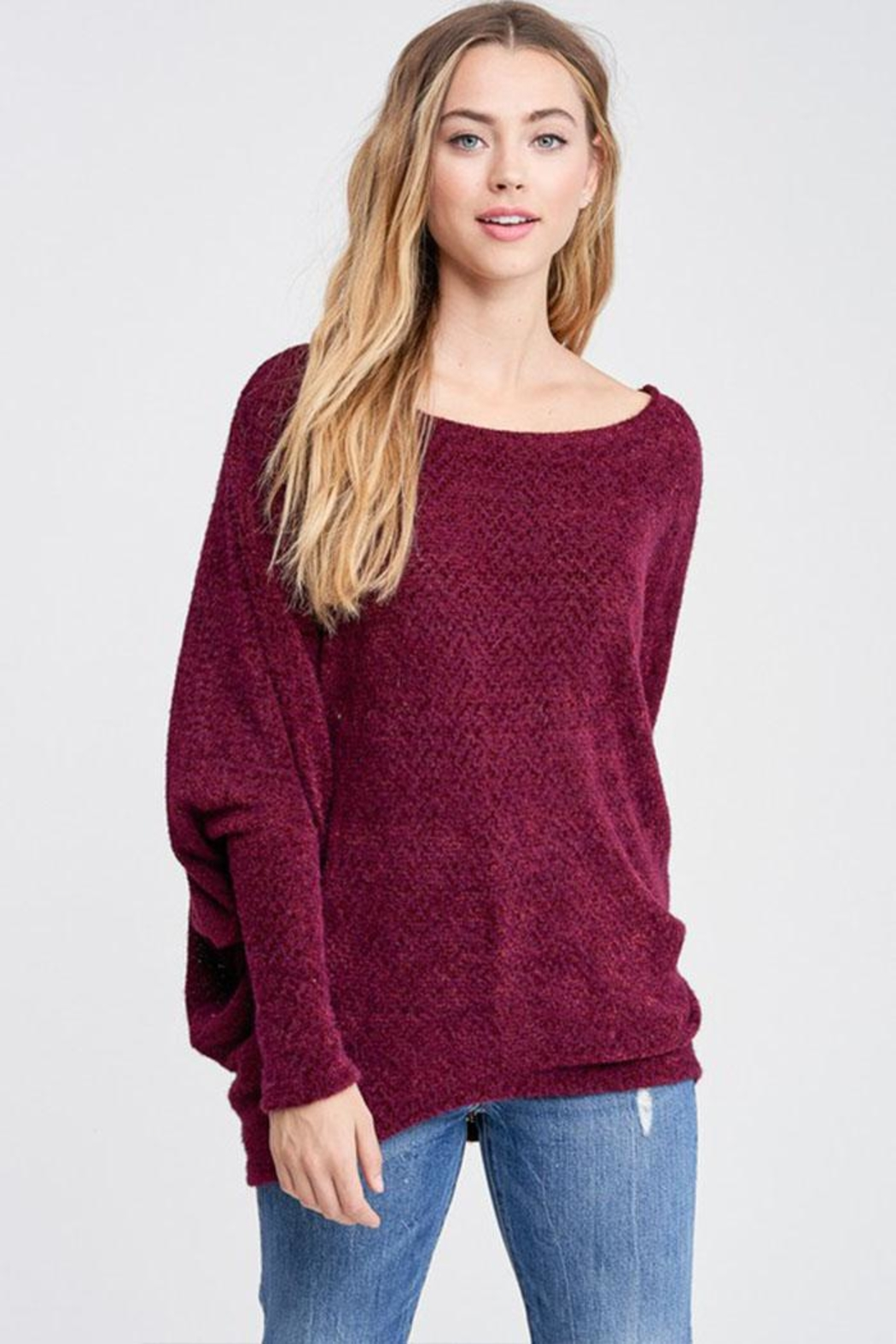 Jolie Dolman Sleeve Tunic - Front Cropped Image