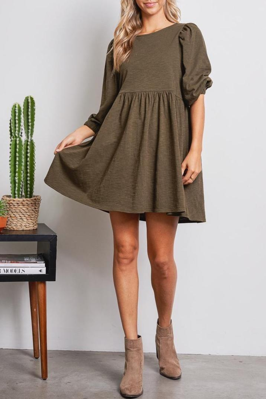 Jolie Elisa Dress (Available In Rust & Olive) - Main Image