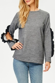 Jolie French Terry Ruffle Top - Front cropped