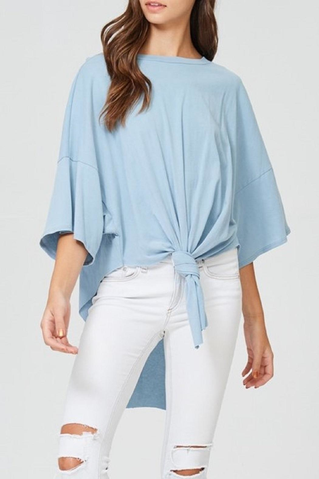 Jolie Front Knot Top - Front Cropped Image