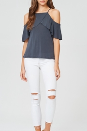 Jolie Front Ruffle Top - Front cropped