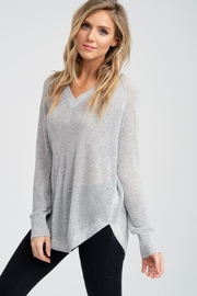 Jolie Grey v-Neck Sweater - Front cropped