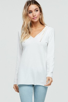 Shoptiques Product: Hooded V-Neck Top