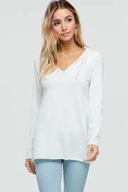 Jolie Hooded V-Neck Top - Product Mini Image
