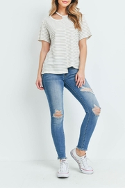Jolie Ivory Taupe-Striped Top - Other