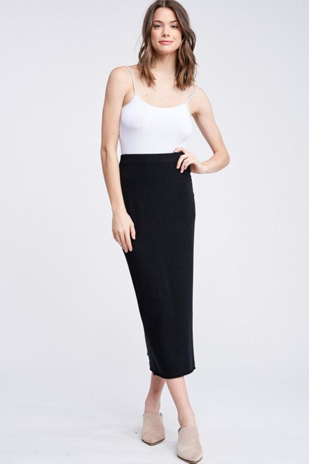 Jolie Knit Midi Skirt - Front Cropped Image