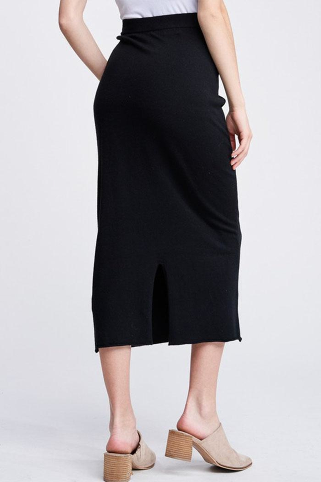 Jolie Knit Midi Skirt - Side Cropped Image
