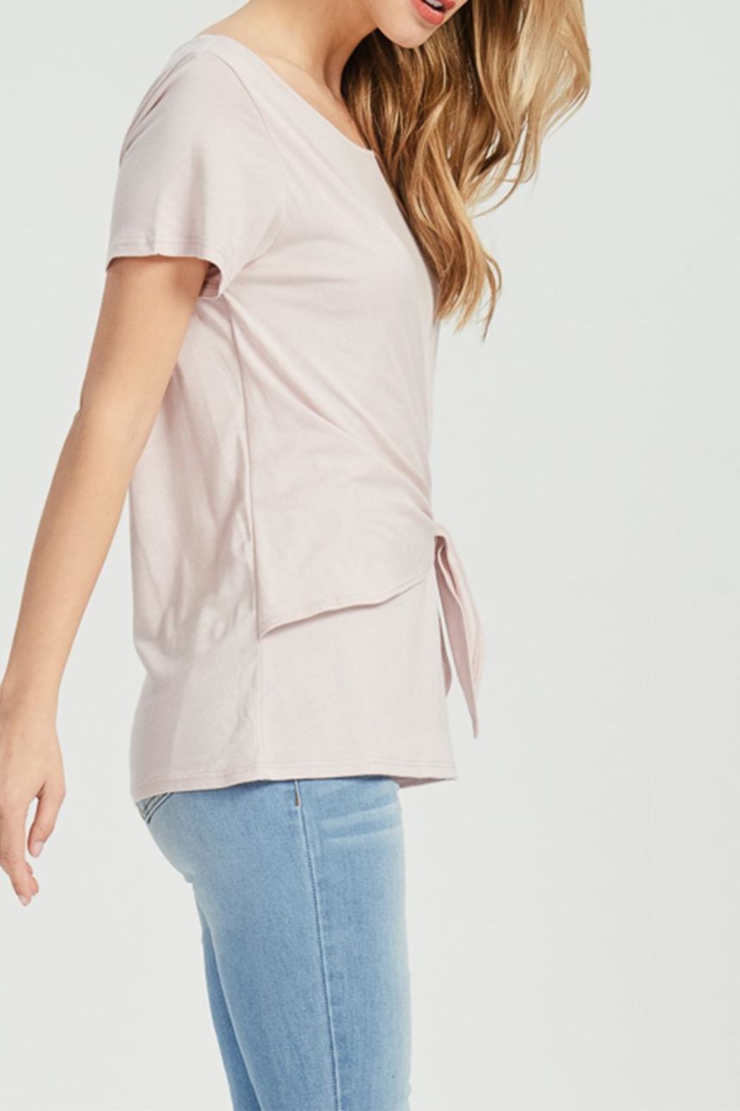 Jolie Knot Front Tee - Side Cropped Image