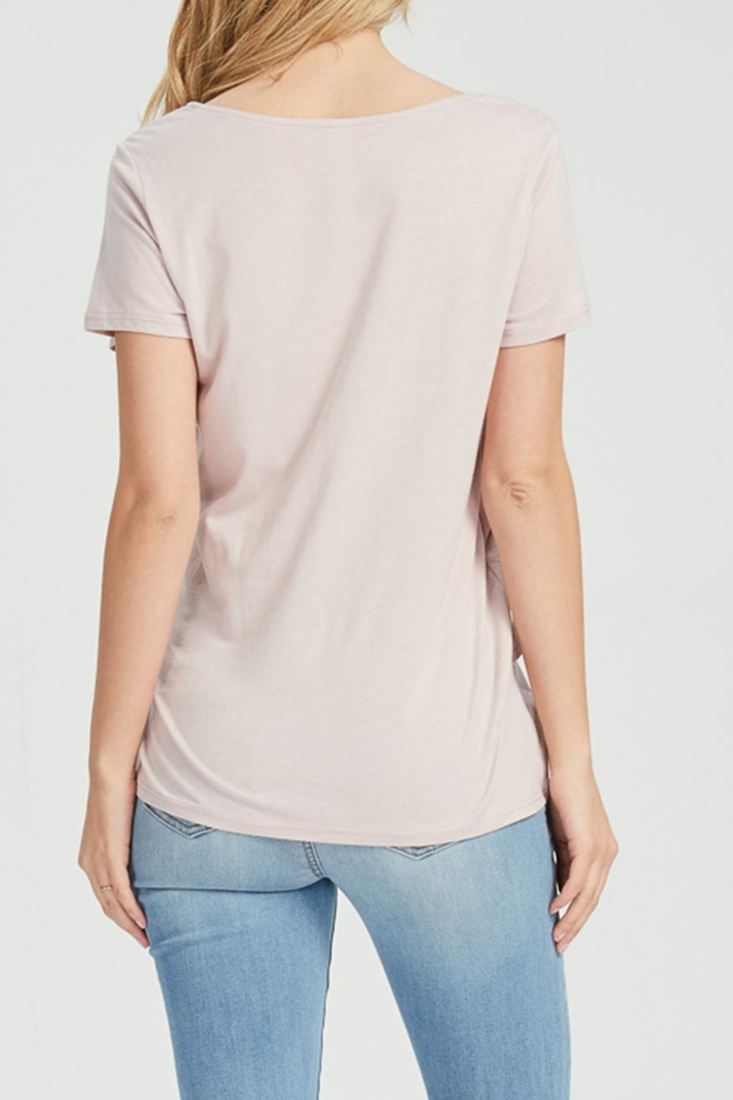 Jolie Knot Front Tee - Back Cropped Image