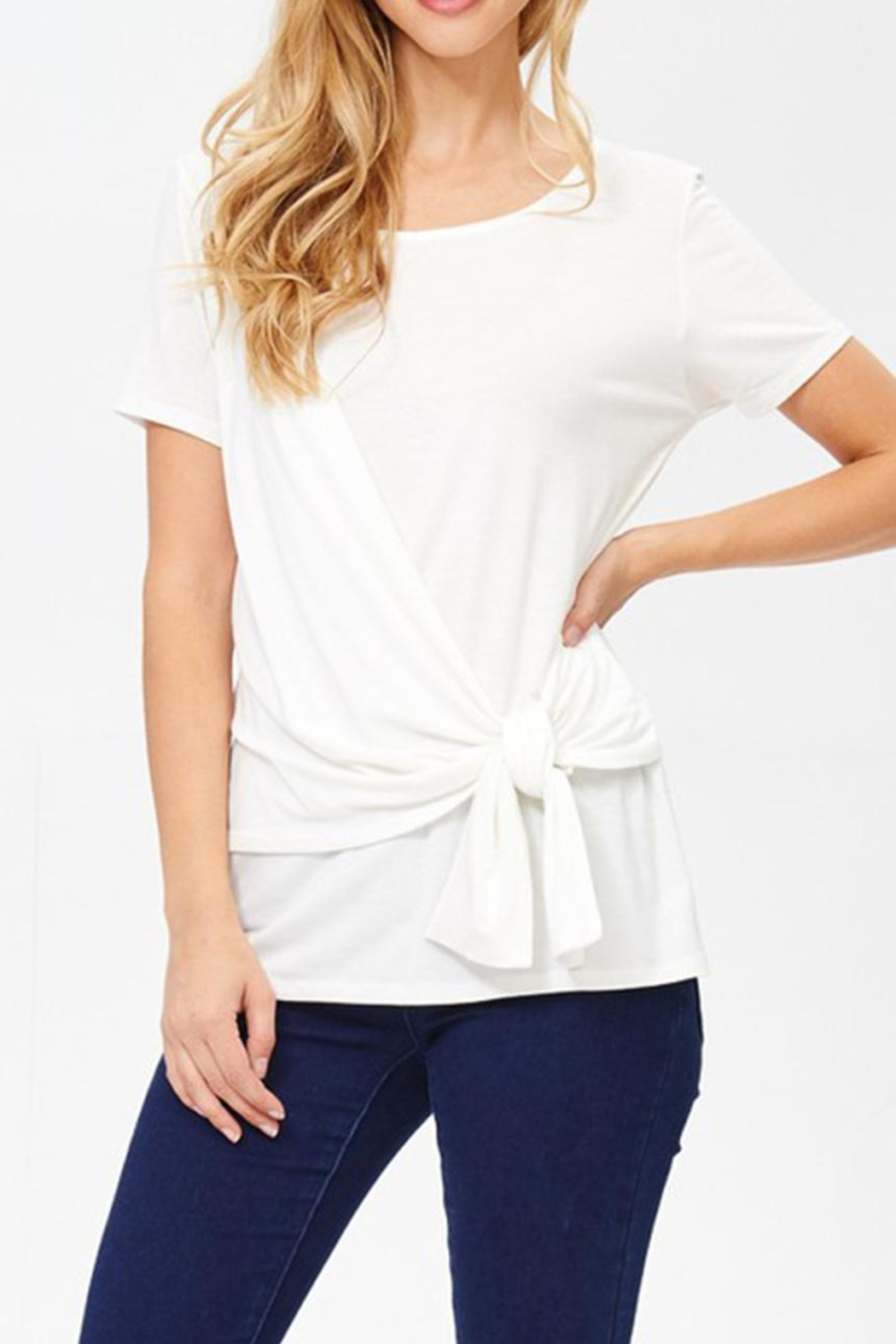 Jolie Knot Front Tee - Main Image